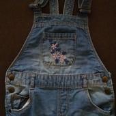 Комбинезон джинсовый летний 86 - 92