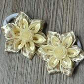 Резиночки для волос Кремовые цветочки