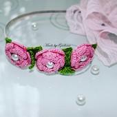 Oригінальний, весняний обруч для маленької принцеси!