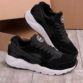 Черные замшевые мужские кроссовки