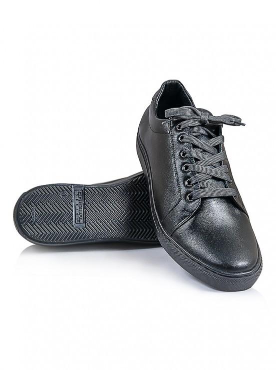 Мужские черные кожаные кеды 6242-28, 40-45, 9 фото №1
