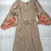 Красивое платье с вышивкой французского бренда Naf Naf