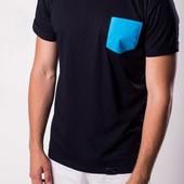 Light cloud T-shirt blue pocket