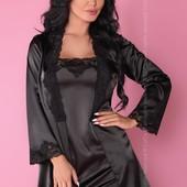 Комплект (халат, сорочка, стринги) Jacqueline Black от Livia Corsetti