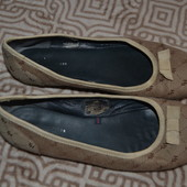 туфли балетки Tommy Hilfiger 26 см 40 размер кожа-текстиль отл сост