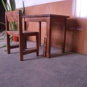 Комплект стол 60*40 и стул прямая спинка