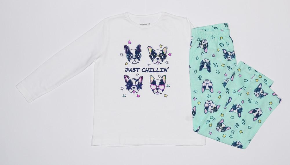 Трикотажная пижама для девочек, primark фото №1