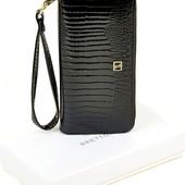 Женский кожаный кошелек клатч Bretton на молнии лаковый В наличии разные модели