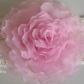 Повязка с цветком из шифона