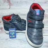 Стильные демисезонные ботинки для мальчика ™ Луч 27-32 р. Качество отличное!