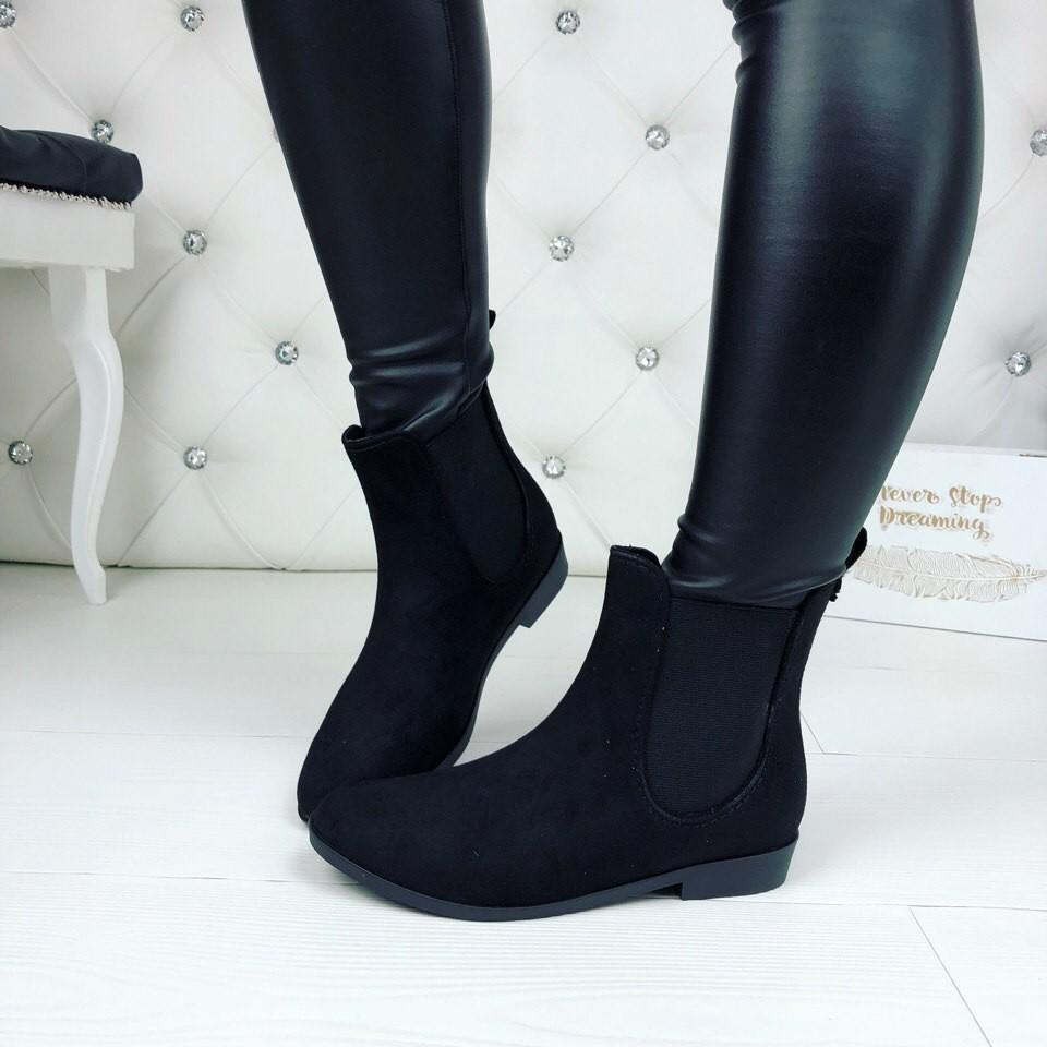 Резиновые ботиночки эко-замша серые и черные фото №9