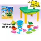 Детский столик-песочница с крышкой 8801