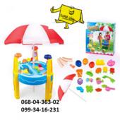 Детский столик песочница с зонтиком 8804A