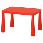 Стол детский, для дома/улицы, красный, 77x55 см Mammut Маммут 603.651.67 Икеа Ikea