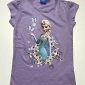 Детская футболка Disney на девочку 4-6 лет, рост 110-116