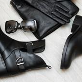 Женские кожаные стильные демисезонные ботинки Diesel 36 41р