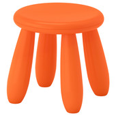 Табурет детский, для дома/улицы, оранжевый Mammut Маммут  503.653.61 Икеа Ikea