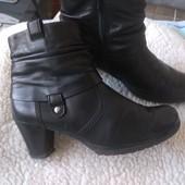 Кожаные деми ботинки gabor 25см Германия