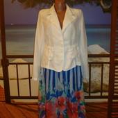 Пиджак льняной\лён р.10 Pescara