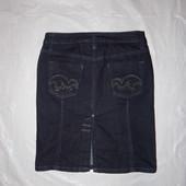 XXS, поб 40-42, модная джинсовая юбка карандаш миди Mango блестки
