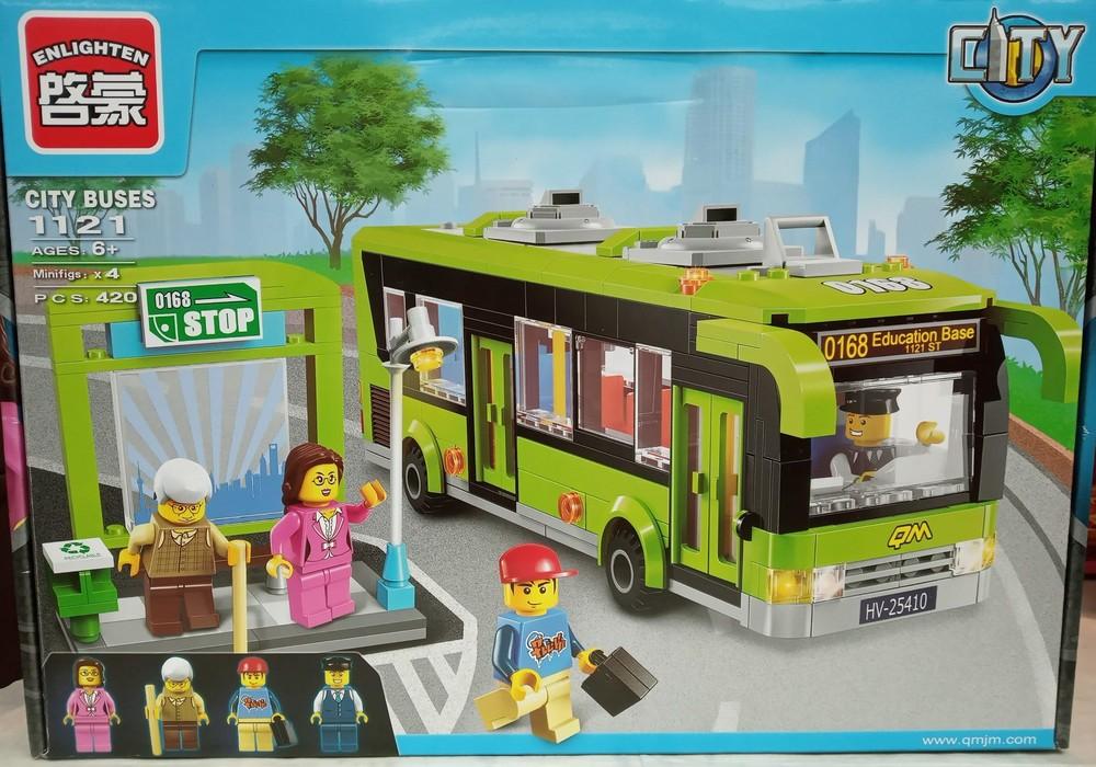Конструктор brick 1121 автобус с остановкой. фото №1