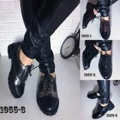 Туфли Oxford на шнурках, кожаные, р. 36-41, код es-1055