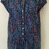 Натуральная блуза-туника с притом
