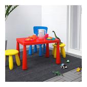 Столик детский красный маммут ИКЕА дитячий столик червоний