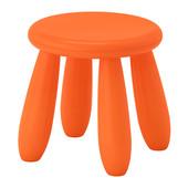 Табурет десткий оранжевый маммут ИКЕА табурет дитячий оранжевий