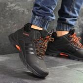 Зимние мужские Adidas ClimaProof black/orange