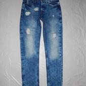 W30 L32, поб 46-48 узкачи! рваные! джинсы скинни Denim Co