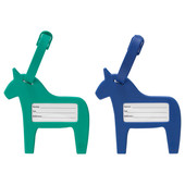Бирка на багаж, синий/зеленый, 403.890.08 Vinter 2017, Винтер 2017 Икеа Ikea В наличии