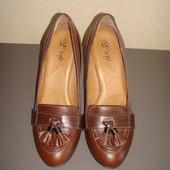 Кожаные туфли лоферы р.36-36.5  Soft