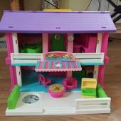 Кукольный домик Wader как новый +пупс в подарок