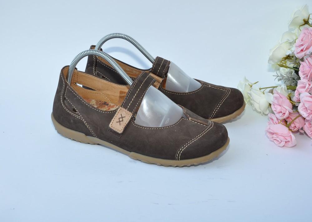 Базовые туфли rohde 37р 24,5см нубук фото №1