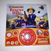 Книга Пожарный Сэм с рулем и звуковыми эффектами бу
