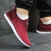 Кроссовки мужские сетка Nike burgundy