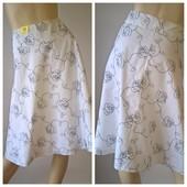 новая женская юбка белая с вышивкой размер 16