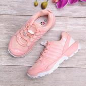 Размеры 31-36 Стильные розовые кроссовки