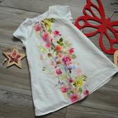 Платье с цветами M&s(6-9 мес)