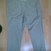 Фирменные лёгкие летние хлопковые штаны брюки  42-44 р.