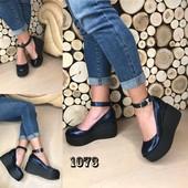 Туфли на устойчивой платформе, р. 35-41, код es-1073