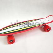 Детский скейт скейтборд пенни красный Profi MS 1284-1