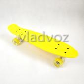 Детский скейт скейтборд пенни желтый с Led Profi MS 1284-6