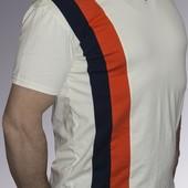 Мужская футболка комбинированная со вставками