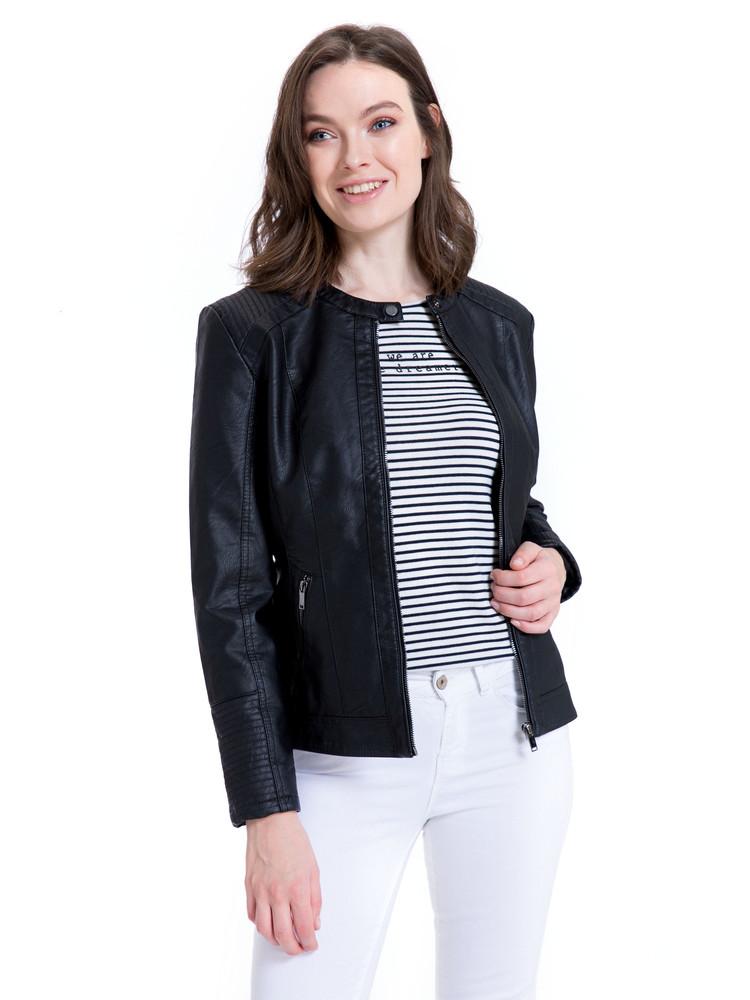Куртка женская  кожаная турция размер  48 50 52  l xl xxl фото №1