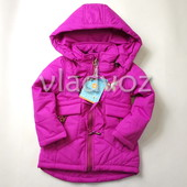 Детская демисезонная куртка для девочки фиолетовая