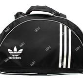Женская тканевая сумка черного цвета в стиле Adidas (409)