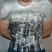 Стильная фирменная футболка бренд Fishbone (Фишбон).м-л .унисекс .
