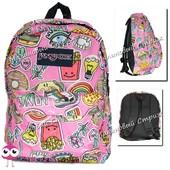 Городской рюкзак для подростков JanSport-124, подойдет как школьный рюкзак, наружный карман